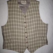 Hermes Unique Vintage Beige Vest Size56 Rare & Unique New   Photo
