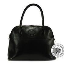 Hermes Vintage Bolide Black Box Tote Bag Ghw Mprs  (No Strap) Photo