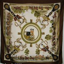 Hermes Vintage Grands Attelages Philippe Ledoux 100% Silk Scarf C1972 Nice 90cm Photo