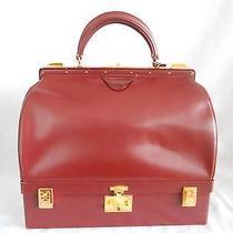 Hermes Vintage Rouge Calfskin Sac Mallette Bag   Photo
