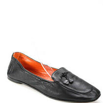 Hermes Womens Leather Slip on Loafers Flats Black Size 39 9 Photo