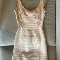 Herve Leger Bandage Dress Mini Nude Classic Scoop Neck Size Xs Photo