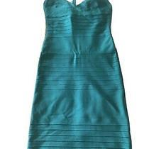Herve Leger Bandage Dress Teal Color Size Medium Photo