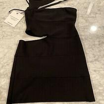 Herve Leger Black Cut Out Dress Size Small Photo