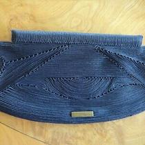 Herve Leger Clutch in Black Cotton Cording Photo