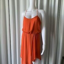 Hh Haute Hippy Orange Asymmetrical Silk Dress Xs Photo