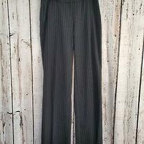 Hhp Women's Size 2 Body by Victoria Christie Fit Black Pinstripe Dress Pants Euc Photo
