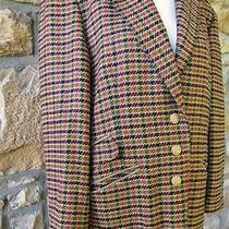 High End Basler Classic Houndstooth Blazer Ladies Sz 10 Jacket Wool Silk Photo