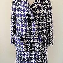 High End Designer Marc Jacobs Wool Bow Pocket Floral Lined Coat  S M Photo