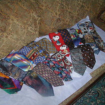 High-End Designer Silk Tie Lot Resale Wear Versace Balmain Garcia Valentino Photo