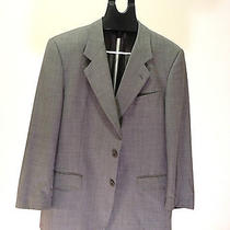High-End Designer Valentino Uomo Size 42 Men's Gray Suit Great Condition Photo