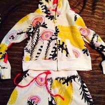 High End Pj Salvage Beach Girls Short & Hoodie Terry Cloth Outfit Size 4 Photo