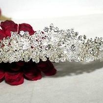 High End Swarovski Crystal Crown Wedding Tiara Bridal Headpiece - Wholesale  Photo