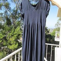 High Everyday Couture by Claire Campbell Dark Blue Jersey Dress Size M Photo