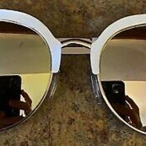 High Fashion Express Tortoise Half Rim Cat Eye Round Sunglasses Photo