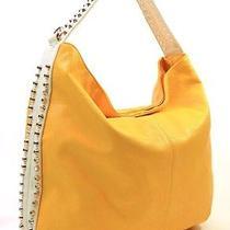 High Fashion Yellow Modern Studded Hobo Photo