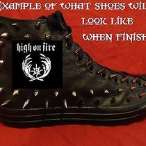 High on Fire Metal Punk Rock Custom Studded Converse Shirt Sneakers Shoes Spikes Photo
