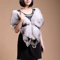 High Quality Women New Real Fox Fur Scarf Stole Shawl Cape Wraps 21 Photo