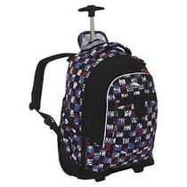 High Sierra Chaser Grunge Checker Wheeled Laptop Backpack School Book Bag Black Photo