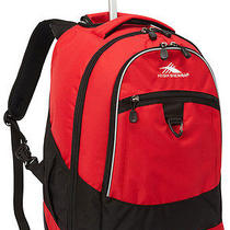 High Sierra Chaser Wheeled Book Bag Backpack - Crimson Photo