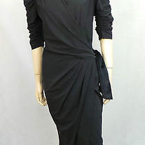 High Use by Claire Campbell Hi-Sashay Black Wrap Over Style Dress Bnwts S.40/8 Photo