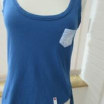 High Use Claire Campbell Blue Cotton Vest Top With Logo Top Pocket (S) Photo