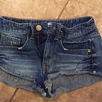 High Waisted Denim Mossimo Shorts Size 1 Photo