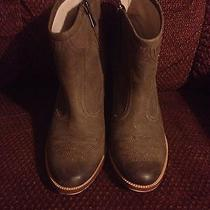 Hinge Addison Ankle Boots Size 9.5 Booties Brown Leather Photo