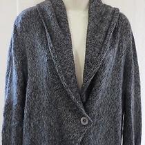 Hinge Anthropologie Gray Single Button Cardigan Sweater Womens Xs 213 Photo