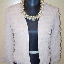 Hinge Designed in Seattle Anthropologie Blush Ruffle Jacket Sz Xs  Long Sleeves Photo