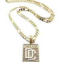 Hip Hop Iced Out Rhinestone Dream Chaser Dc Pendant 24