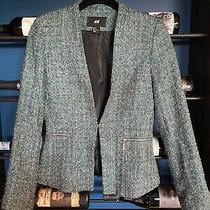 Hm Boucle Fitted Blazer /jacket Size 6 Photo