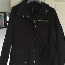 Hm Brown Jacket Size 16 Gold Detail Worn Once Photo