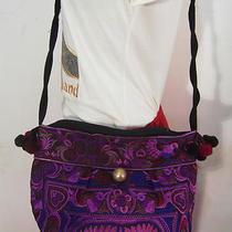 Hmong Tribal Ethnic Thai Indian Vintage Style Embroidered Hobo Shoulder Bag H10 Photo