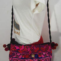 Hmong Tribal Ethnic Thai Indian Vintage Style Embroidered Hobo Shoulder Bag  H9 Photo