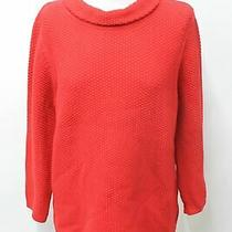 Hobbs Ladies Camilla Sweater Red Textured Waffle Knit Cotton Jumper Size L New Photo