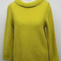 Hobbs Ladies Jumper Camilla 0119 Yellow Cotton Wide Roll Neck Sweater Xs New Photo