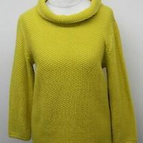 Hobbs Ladies Jumper Camilla Yellow Mustard Cotton Wide Roll Neck Sweater S New Photo