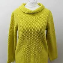 Hobbs Ladies Yellow Cotton Rolled Neck Camilla Sweater Jumper Size S New Photo