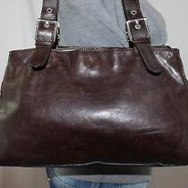 Hobbs Medium Brown Leather Shoulder Hobo Tote Satchel Slouch Purse Bag Photo