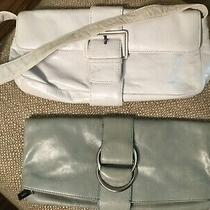 Hobo Clutches/shoulder Bags  (White Buckle Shoulder) &  (Moss Mint Green Clutch) Photo
