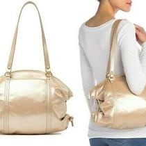 Hobo Flourish Women's Vintage Hide Leather Shoulder Bag Purse in Blush Metallic Photo