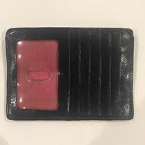 Hobo International Black Euro Slide Credit Card I.d. Leather Wallet Used Photo
