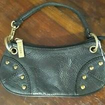 Hobo International Black Leather Clutch Wristlet Pochette Pouch Photo