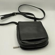 Hobo International Black Leather Wallet Purse Shoulder Bag Crossbody Organizer Photo