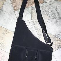 Hobo International Black Microfiber Handbag Shoulder Bag Messanger Cross Body Photo