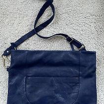 Hobo International Blue Leather Shoulder Messenger Bag Photo