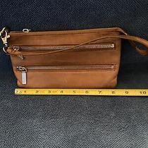Hobo International Brown Wallet Wristlet Leather Clutch Organizer  8 Photo