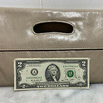 Hobo International Clutch Purse Leather Beige Womens Hand Bag Photo