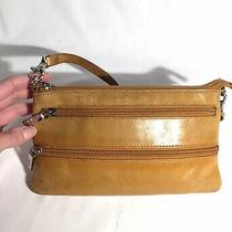 Hobo International Clutch Wallet Purse Orange Photo